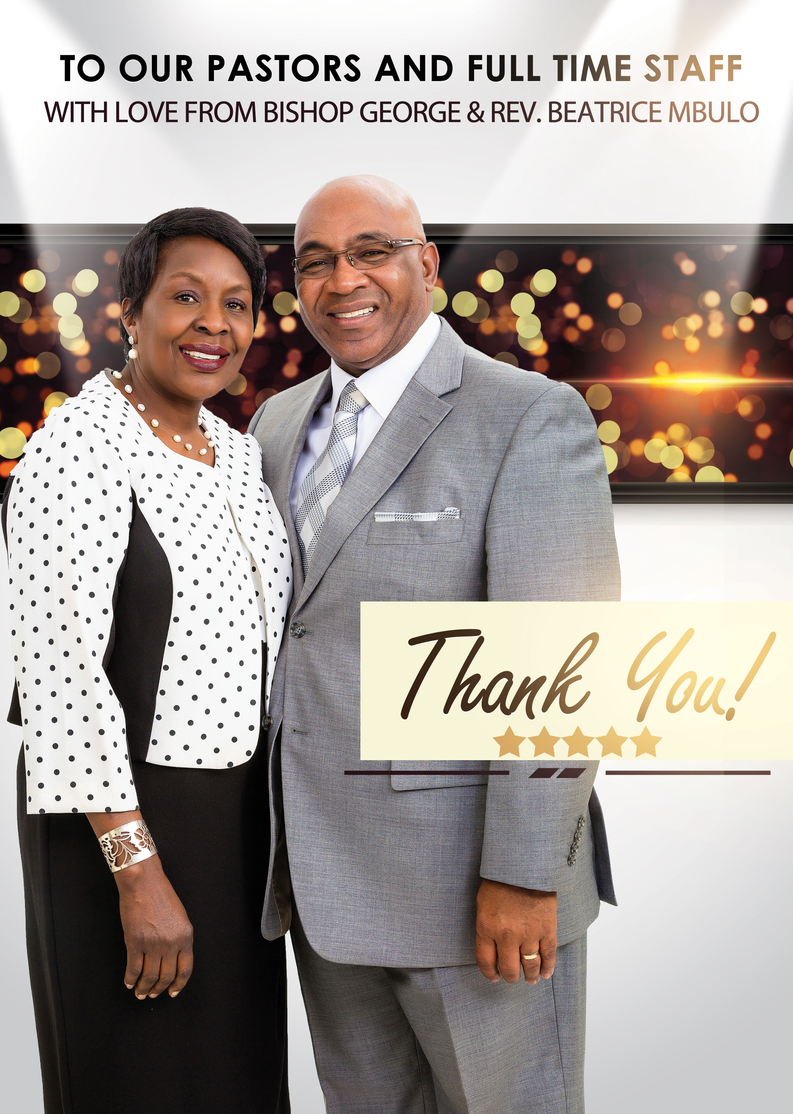 APPRECIATING OUR PASTORS AND FULL TIME STAFF - Capital